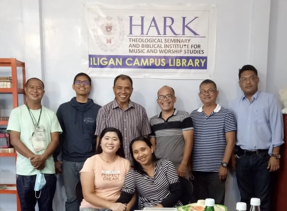 Dean, Jun Tabada (3rd from left), and HARK Seminary Th.D. Candidates at the Library opening.